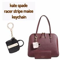 kate spade /キーリング / racer stripe maise keychain
