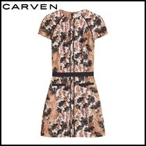 CARVEN(カルヴェン)★Printed Crepe Mini Dress★