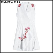 CARVEN(カルヴェン)★Embroidered Cotton Dress★