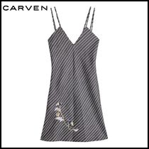 CARVEN(カルヴェン)★Embroidred Silk Mini Dress★