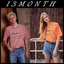 13MONTH(サーティーンマンス) Tシャツ・カットソー 送料無料★13MONTH★17ss behind rose embroidery t-shirts 2色