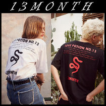 13MONTH(サーティーンマンス) Tシャツ・カットソー 送料無料★13MONTH★17ss snake printing t-shirts 2色