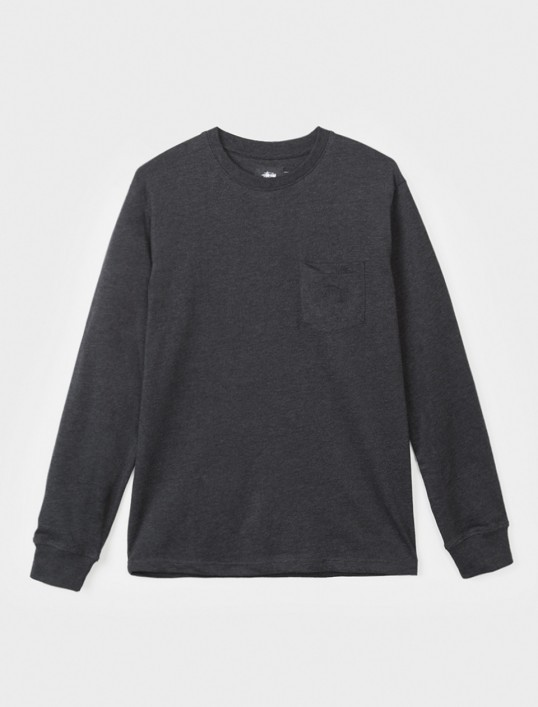 【STUSSY】☆17SS新作☆HEATHER O'DYED L/S POCKET TEE