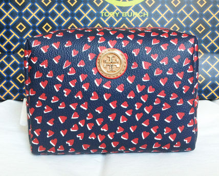 Tory Burch Kerrington Valentine Hearts Cosmetic Case ポーチ