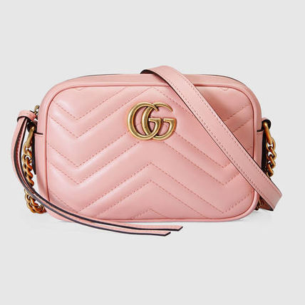 [GUCCI] ★2017 SS★ GG Marmont ショルダー small light pink