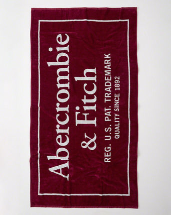 Abercrombie & Fitch レジャー・ピクニック用品 【Abercrombie】LOGO BEACH TOWL全3色(2)