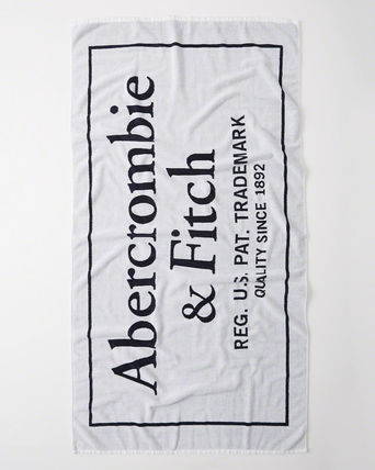 Abercrombie & Fitch レジャー・ピクニック用品 【Abercrombie】LOGO BEACH TOWL全3色(3)