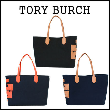 Tory Burch トートバッグ 【即発★3-5日着】TORY BURCH★Canvas Stacked Tote★31397
