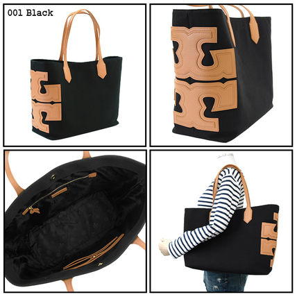 Tory Burch トートバッグ 【即発★3-5日着】TORY BURCH★Canvas Stacked Tote★31397(2)