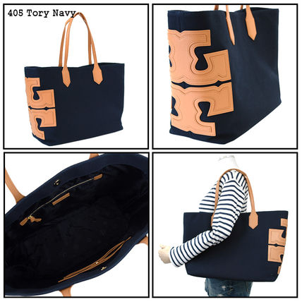 Tory Burch トートバッグ 【即発★3-5日着】TORY BURCH★Canvas Stacked Tote★31397(3)
