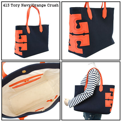 Tory Burch トートバッグ 【即発★3-5日着】TORY BURCH★Canvas Stacked Tote★31397(4)