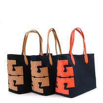 【即発◆3-5日着】Tory Burch◆Canvas Stacked T EW Tote◆31397