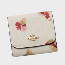 【OUTLET】COACH コーチ フローラルプリント Wホック ミニ財布白