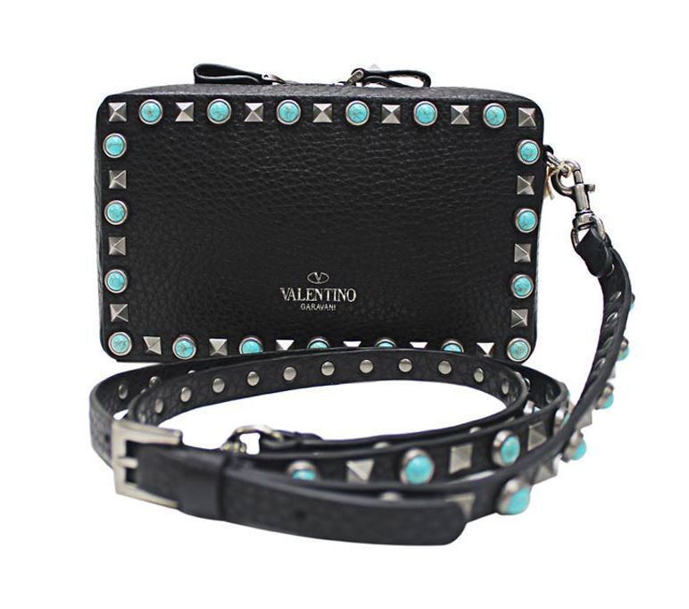 【関税負担】 VALENTINO 17SS ROCKSTUD ROLLING CROSS BODY BAG