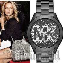 ★人気商品★Michael Kors Slim Runway Black Dial  MK3589