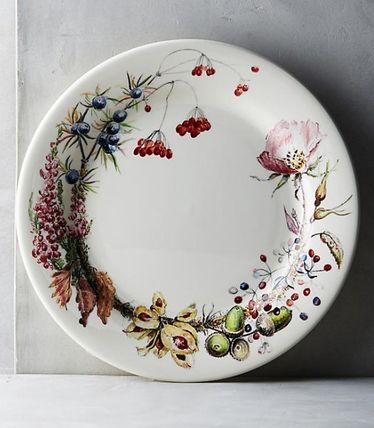 Anthropologie☆Gien Bouquet Dinner Plate お皿 国内発送