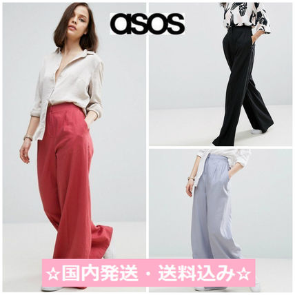 ASOS linen wide pants