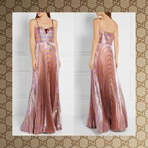 ☆16Fall☆ GUCCI Embellished striped lame gown