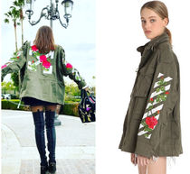 17SS 関税送料込 off white ROSES EMBROIDERED CANVAS JACKET