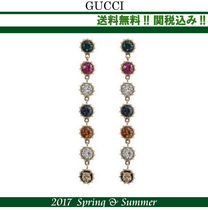2017SS関税込★GUCCI(グッチ)pendant earrings with crystals