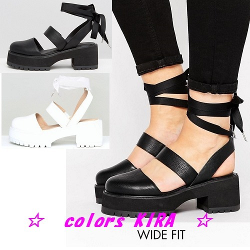 ASOS OBLONG Wide Fit Chunky Heels♪2色