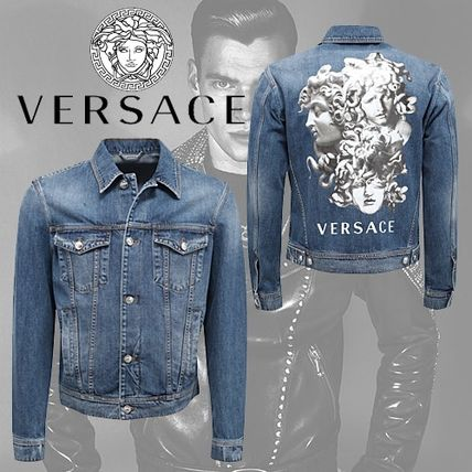 VERSACE Medusa Mirage Graphic Denim Jacket