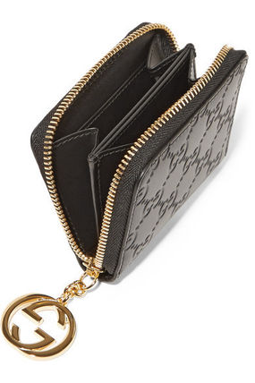 Gucci★Icon embossed leather wallet GGチャーム付コインケース