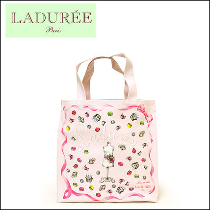 LADUREE ラデュレ ビニールトートバッグ CHARMS COUTURE(PM/S)