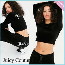 【JUICY COUTURE】新作☆限定 ベロア ロゴ クロップトップ ♪