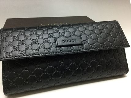 Popular GUCCI micro GG black long wallet