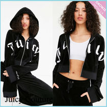 【JUICY COUTURE】新作☆限定 ベロア ロゴ パーカー フーディ♪