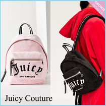 【JUICY COUTURE】新作☆限定 ベルベット ロゴ バックパック♪
