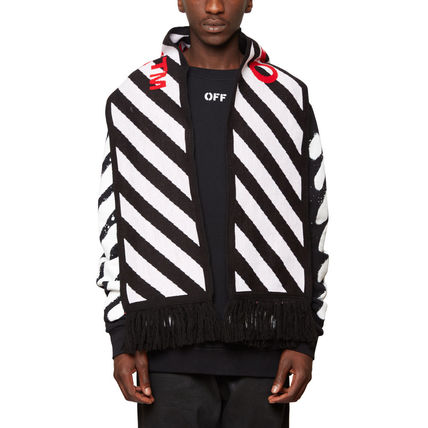 SS17 OFF WHITE off white DIAGONALS SCARF day