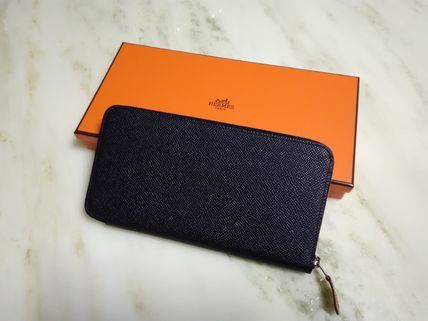 Reserved HERMES silk'in wallet purse rare black