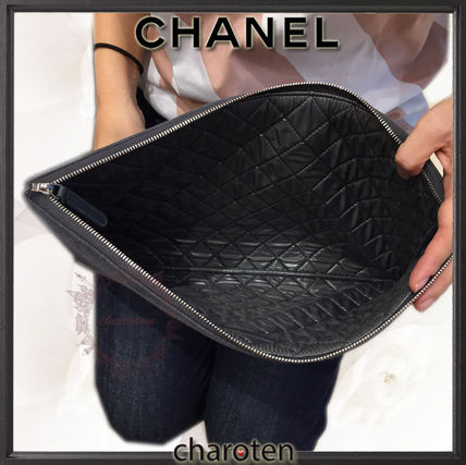 CHANEL クラッチバッグ 【関税補償・追跡付】最新/限定☆争奪戦Deauvilleでかクラッチ(3)