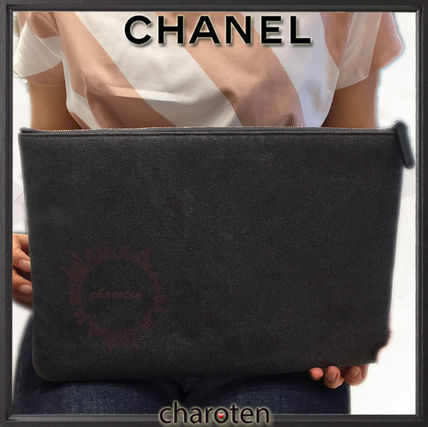 CHANEL クラッチバッグ 【関税補償・追跡付】最新/限定☆争奪戦Deauvilleでかクラッチ(4)