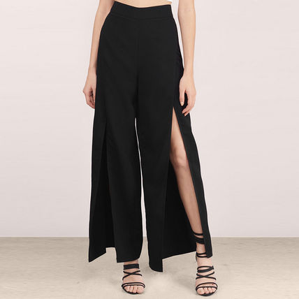 2017 spring trends slit pants and slit with wide pants