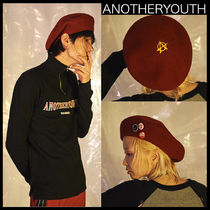 ANOTHERYOUTH(アナザーユース) ベレー帽 ★韓国の人気★ANOTHERYOUTH★a-wool beret - burgundy★UNISEX