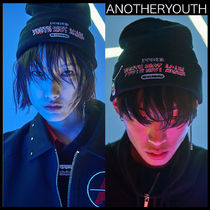 ANOTHERYOUTH(アナザーユース) ニットキャップ・ビーニー ★韓国の人気★ANOTHERYOUTH★pin beanie - black★UNISEX