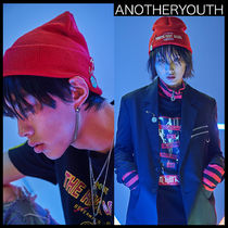 ANOTHERYOUTH(アナザーユース) ニットキャップ・ビーニー ★韓国の人気★ANOTHERYOUTH★pin beanie - red★UNISEX