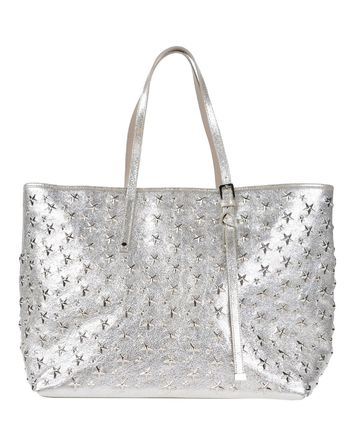 Jimmy Choo star Stud shopper / tote bag _SILVER