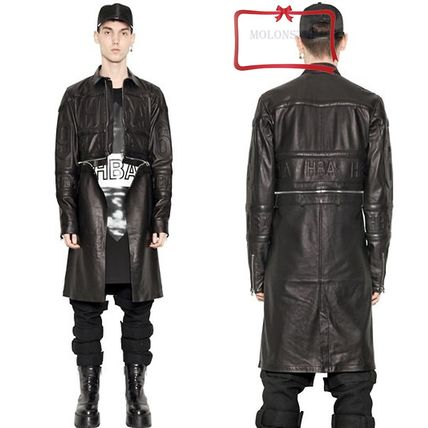 HoodByAir HBA long leather jacket