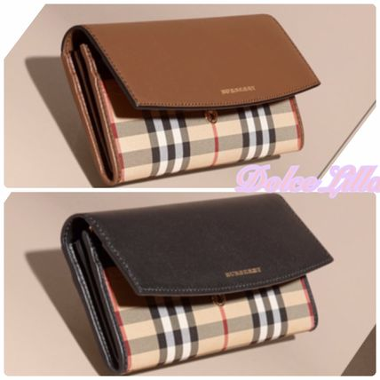 BUYMA lowest check leather continental wallet