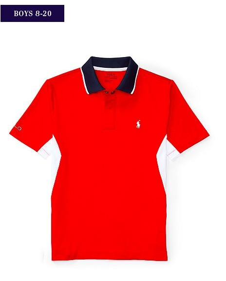 新作♪国内発送 3色 TECH MESH POLO SHIRT boys 8~20