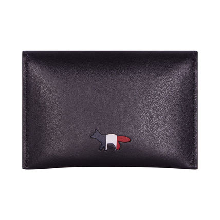 MAISON KITSUNE card coin case tricolor