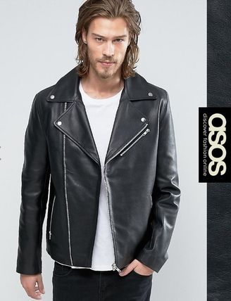 * ASOS * * leather riders jacket /BKR