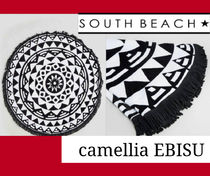 ☆ ★ ☆《South Beach》Geo Round Beach Towel☆ ★ ☆