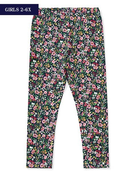 新作♪ 国内発送 FLORAL STRETCH JERSEY LEGGING girls 2~6X