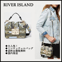 大人気!!★Blue scarf mini satchel bag★River Island*送関無料