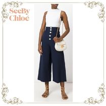 VERY4月号掲載〜17SS★SEE BY Chloe★wide leg flared trousers